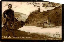 Belle    Cpa -  La Garde Au Rhin -  Char De Combat           ,signée   Joe Midge         C1285 - Guerre 1914-18