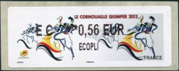 ATM-LABEL - LISA 2  ECOPLI 0.56 € - (EC  ***0,56 EUR) - LE CORNOUAILLE QUIMPER 2013 - ATM - Frama (vignetten)