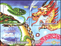 New Caledonia - Nouvelle Caledonie - 2000 - ( New Year 2000 (Year Of The Dragon ) - S/S - MNH (**) - Nueva Caledonia