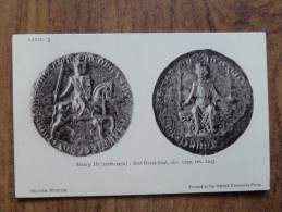 42869 PC:  MUSEUMS:  BRITISH MUSEUM:  Henry III [1216-1272]: First Great Seal. - Museum