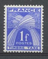 Type Gerbes. N°81 1f. Bleu-violet N** YX81 - Segnatasse