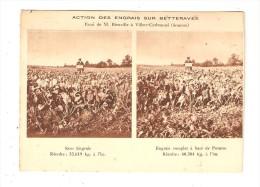 CPA : 80 - Somme :Villers Carbonnel : Action Engrais Sur Betteraves : 2 Photos Comparatives - France