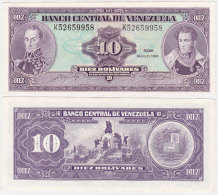 Venezuela 10 Bolivares 1990 Pick 61b UNC - Venezuela
