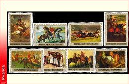 Rwanda 0338/45**  Le cheval MNH