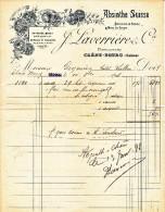 ABSINTHE SUISSE -J.LAVERRIERE-CHENE BOURG- - SUPERBE FACTURE A ENTETE-1898 - Suisse
