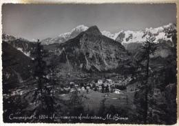 Courmayeur Panorama Con Sfondo Catena Monte Bianco Viaggiata - Italia