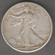 STATI UNITI HALF DOLLAR 1944 AG SILVER - 1916-1947: Liberty Walking (Libertà Che Cammina)