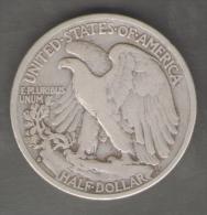 STATI UNITI HALF DOLLAR 1934 AG SILVER - 1916-1947: Liberty Walking (Libertà Che Cammina)