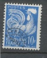 Préoblitérés N°110 Typographie - 10 F. Bleu ZP110 - Préoblitérés