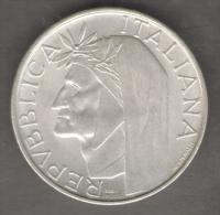 ITALIA 500 LIRE 1965 DANTE ALIGHIERI AG SILVER - Commemorative