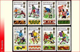 Rwanda 0354/61**  Football a Mexico  MNH