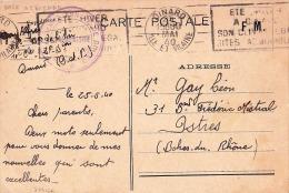 """Franchise """""""" BASE AÉRIENNE ANNEXE DE DINARD """""""" ILLE ET VILAINE 25/5/40 Sur CPFM > Istres - Aviation Militaire - Guerra Del 1939-45"""