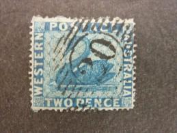 AUSTRALIE OCCIDENTALE, Année 1861, YT N° 10 Oblitéré, Denture Fine 14x16, Sur Charnière, Cote 50 € - Gebraucht