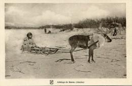 ESQUIMAUX(ALASKA) ATTELAGE DE RENNE - Native Americans