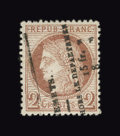 FRANCE N° 51 2c Rouge-brun Cérès Dentelé. Annulation Typo. Des Journaux. Centrage Parfait. TTB - 1871-1875 Ceres