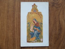 """42897 POSTCARD: V & A MUSEUM: PEREGRINO - """"The Virgin And Child With ANGELS"""" Tempera On Panel. - Museum"""