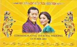 BHUTAN ROYAL WEDDING 100 NGULTRUM COMMEMORATIVE BANKNOTE 2011 PICK-35 UNCIRCULATED UNC - Bhután