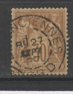 Yvert 80 Belle Oblitération - 1876-1898 Sage (Type II)