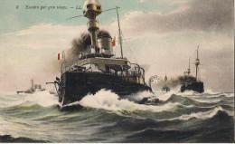 ESCADRE PAR GROS TEMPS CPA NO 8 - Warships