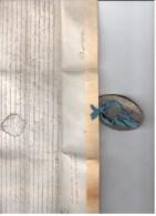 VP264/15- Document Sur Velin - Généralité De Touluse Avec Morceau De Sceau En Latin Dans Boite Métallique - Documentos Históricos