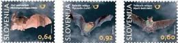2014 SLOVENIA Fauna. Bats. 3v+ms - Slovenia