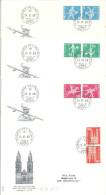 """FDC  """"Kehrdruckmarken - Gefasertes Papier Mit Leuchtstoff""""               1968 - Inverted (tête-bêche)"""