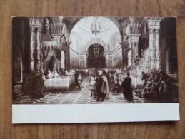 42902 PC: BOWES MUSEUM, BARNARD CASTLE: Belshazzar's Feast. (Francisco Rizi 1608-1685. Spanish School). - Museum