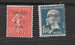 France:n°264/65 **  (recto/ Verso) Congrès Du B I T - France