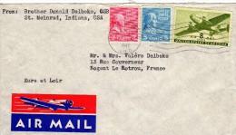 Stempel 1947   , Van Us Naar France - Covers & Documents