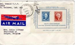 Stempel 1947   , Van Us Naar Belgie - Covers & Documents