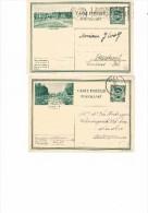 PWST Reeks 9 Albert I , N° 2 & 7 Aywaille  Charleroi - Illustrat. Cards