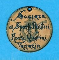 PERSONALE MEMBERS CARD Della SOCIETA DI Sporte NAUTICI * * QUERINI Firmato Dal Presidente Piero FOSCARI Nel 1903 - Other