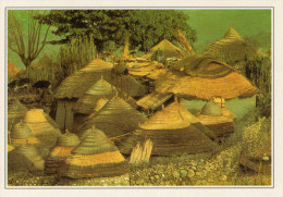 CAMERUN:  VILLAGGIO  NELLA  SAVANA      (NUOVA CON DESCRIZIONE DE POSTO SUL RETRO) - Camerun