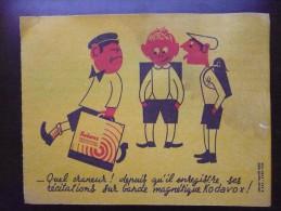 Buvard KODAK Bandes Magnétiques KODAVOX. ENFANT. Ecoliers. Humoristique. Années 50 - Blotters