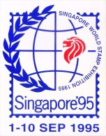 LABEL / STICKER - SINGAPORE 1995 - SINGAPORE WORLD STAMP EXHIBITION - Stickers