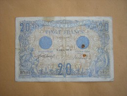 Billet 20 Fr Bleu Du 8 Février 1912 - 20 F 1905-1913 ''Bleu''