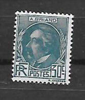 France:  N° 291 *(v, Le Recto Verso) A. Briand - Frankreich