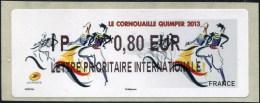ATM-LABEL - LISA 2  LETTRE PRIORITAIRE INTERNATIONALE 0.80 € - (IP  ***0,80 EUR) - LE CORNOUAILLE QUIMPER 2013 - ATM - Frama (vignetten)