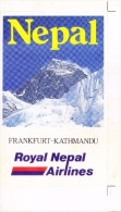 LABEL / STICKER - ROYAL NEPAL AIRLINES - INAUGURATION OF FRANKFURT - KATHMANDU FLIGHT - Stickers