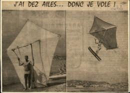 SPORTS NAUTIQUES - Invention Nautique - Article Tiré D'une Revue De 1959 - Kite Surf - Vieux Papiers