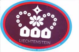 LABEL / STICKER - LIECHTENSTEIN TOURISM - DISCOVER LIECHTENSTEIN - ENTDECKEN SIE LIECHTENSTEIN - Stickers