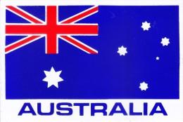 LABEL / STICKER - NATIONAL FLAG OF AUSTRALIA - AUSTRALIA TOURISM, VISIT AUSTRALIA - Stickers