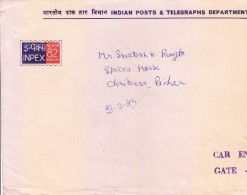 OFFICIAL USED ENVELOPE OF INPEX 82, NEW DELHI ISSUED BY INDIAN POSTS & TELEGRAPHS DEPARTMENT - - Programs