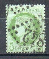 FRANCE - 1871-75 - Cérès - IIIème République - N° 53 - 5 C. Vert-jaune S. Azuré - (Losange Gros Chiffres) - 1871-1875 Ceres