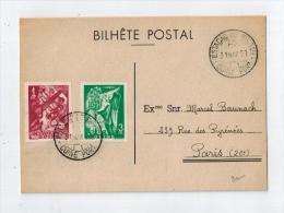 Cp Pour La France 1951 - Guinée Portugaise