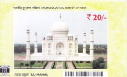 OFFICIAL GATE PASS - TAJ MAHAL - ISSUED BY ARCHAEOLOGICAL SURVEY OF INDIA - Programs