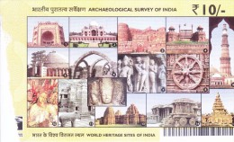 OFFICIAL GATE PASS - WORLD HERITAGE SITES OF INDIA - ISSUED BY ARCHAEOLOGICAL SURVEY OF INDIA - Programs