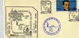MONTILLA (CORDOBA). MATASELLO ENCUENTRO ENTRE TRES CULTURAS. 1992. - Marcofilia - EMA ( Maquina De Huellas A Franquear)
