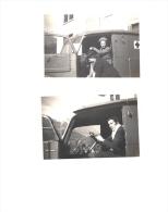2 Photographies Originales Infirmière Dans Ambulance à Albertville Octobre 1944 - Guerra, Militari