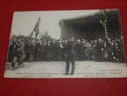 MILITARIA -  Camp D'Auvours  - Remise D'un Drapeau Aux Troupes Belges - Discours Du Général Guillin  - 1916 -  (2 Scans) - Characters